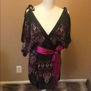 Bebe Silk Kimono Dress M